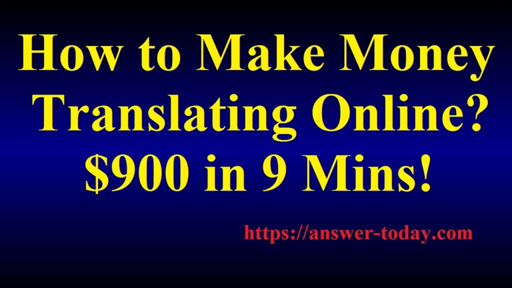 How to Make Money Translating Online