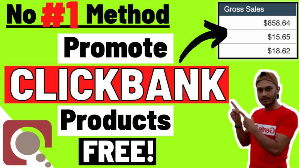 No #1 Method to Promote Clickbank Products For Free